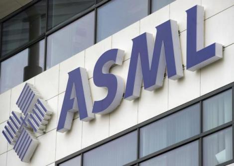 ASML's logo is seen on the day of the presentation of the 2011 fourth quarter and annual results in Veldhoven